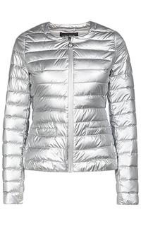 Серебристая куртка на искусственном пуху La Reine Blanche