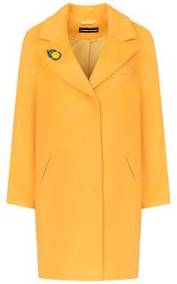 Желтое полушерстяное пальто La Reine Blanche