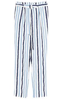 Укороченные брюки в полоску La Reine Blanche