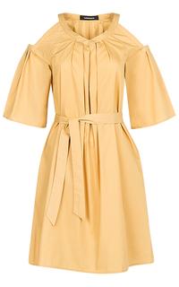 Летнее платье с поясом La Reine Blanche