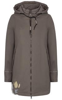 Утепленная куртка с принтом La Reine Blanche