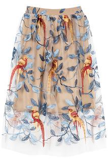 Юбка с вышивкой La Reine Blanche