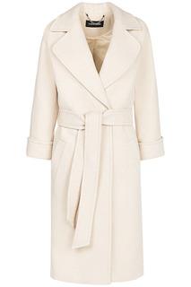 Шерстяное пальто с поясом La Reine Blanche