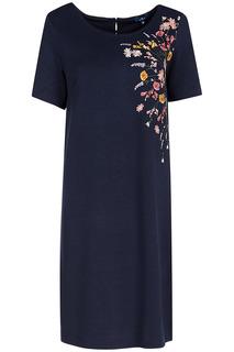 Трикотажное платье с вышивкой Tom Tailor