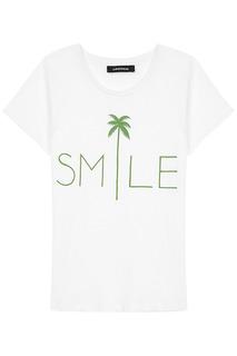 Белая футболка с принтом La Reine Blanche