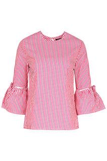 Блузка с воланами на рукавах La Reine Blanche