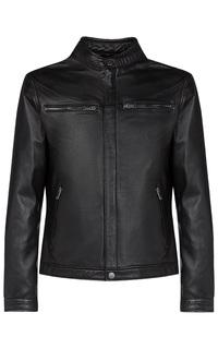 Черная куртка из натуральной кожи Urban Fashion for men