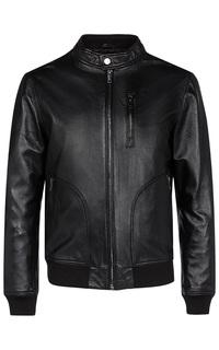 Кожаная куртка с отдеркой трикотажем Urban Fashion for men
