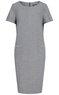 Серое платье с короткими рукавами LE Monique