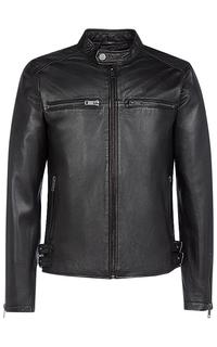 Черная кожаная куртка Urban Fashion for men