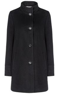 Черное шерстяное пальто Elema