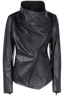 Кожаная куртка с отделкой трикотажем LE Monique