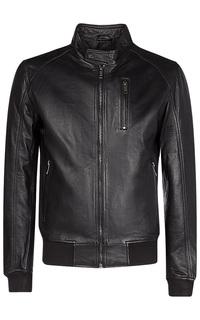 Черная куртка с трикотажной отделкой Urban Fashion for men