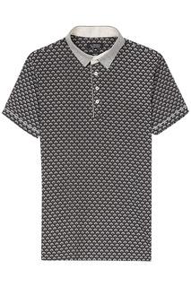 Трикотажная футболка-поло с принтом Al Franco