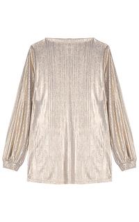 Металлизированная блузка La Reine Blanche