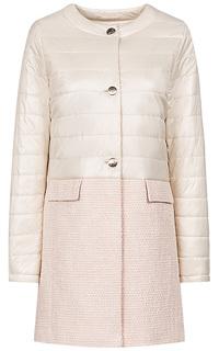 Комбинированное пальто на синтепоне Madzerini