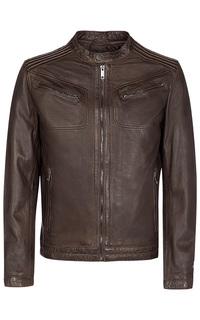 Коричневая кожаная куртка Urban Fashion for men