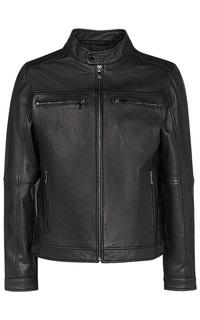 Черная кожаная куртка Jorg Weber