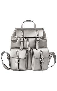 Серебристый рюкзак La Reine Blanche