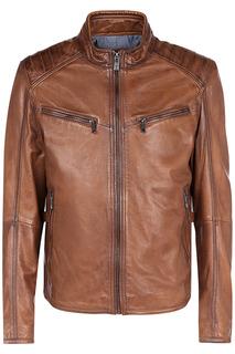 Кожаная куртка прямого кроя Jorg Weber