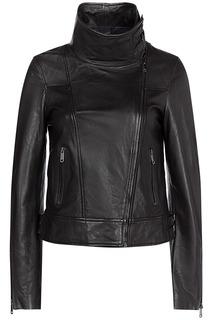 Кожаная куртка с высоким воротником-стойкой La Reine Blanche