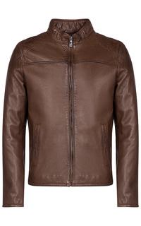 Коричневая куртка из натуральной кожи Jorg Weber