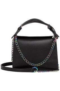 Черная кожаная сумка с цепочкой La Reine Blanche