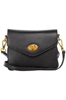 Черная сумка-клатч La Reine Blanche