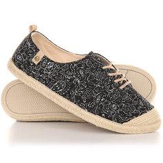 Кеды кроссовки низкие женские Roxy Flora Lace Up Black