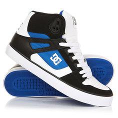 Кеды кроссовки высокие DC Pure Ht Wc White/Blue/Black