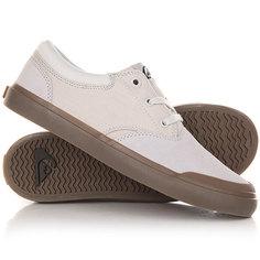 Кеды кроссовки низкие детские Quiksilver Verant Youth White/White/Brown