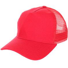 Бейсболка классическая TrueSpin Blank Round Visor Trucker Red