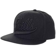 Бейсболка классическая Skills Skills-01 Black