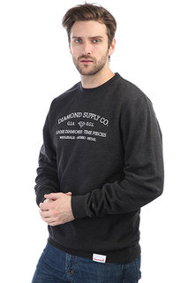 Толстовка классическая Diamond Time Piece Crewneck Charcoal/Heather