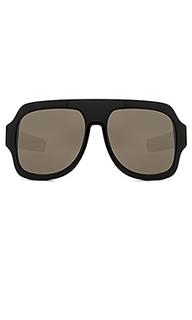 Солнцезащитные очки oversize acetate shield - Gucci
