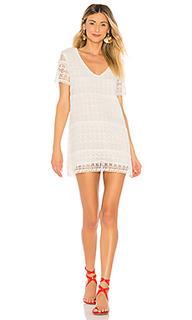 Мини платье с глубоким v-образным вырезом lambros - Tularosa