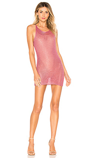 Мини-платье из металлизированного трикотажа allison - by the way.