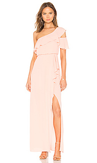 Вечернее платье с открытым плечом - BCBGMAXAZRIA