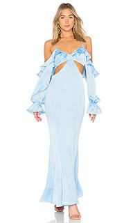 Вечернее платье с открытыми плечами sarah jessica - MAJORELLE