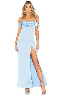 Вечернее платье с открытыми плечами jane - MAJORELLE