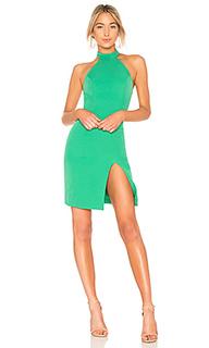 Миди платье с разрезом sugar pine - NBD