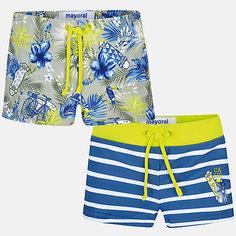Комплект:2 пары купальных плавок Mayoral для мальчика