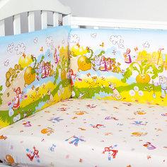 """Комплект в кроватку 6 предметов Baby Nice, """"Сказки"""" Репка, голубой"""
