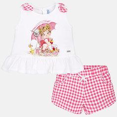 Комплект:шорты,блузка Mayoral для девочки
