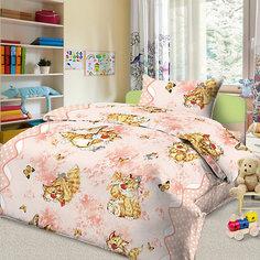 Детское постельное белье 1,5 сп. Letto, Кошки-мышки, розовый