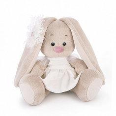 Мягкая игрушка Budi Basa Зайка Ми в белом платье с голубем, 15 см