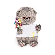 Мягкая игрушка Budi Basa Кот Басик Baby в футболке с вертушкой, 20 см