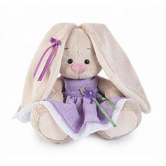 Мягкая игрушка Budi Basa Зайка Ми в фиолетовом платье с цветочком, 15 см