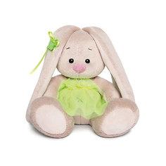 Мягкая игрушка Budi Basa Зайка Ми в ярко-зеленой юбочке «фонарик», 15 см