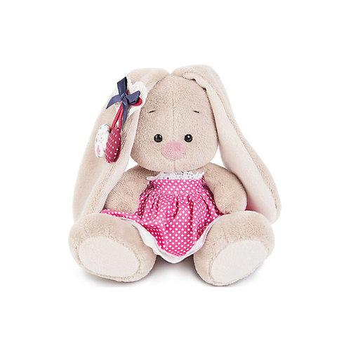 Мягкая игрушка Budi Basa Зайка Ми в розовой юбочке и с вишней, 15 см